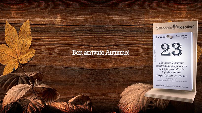 Creativita autunno 2018 Il Calendario Filosofico