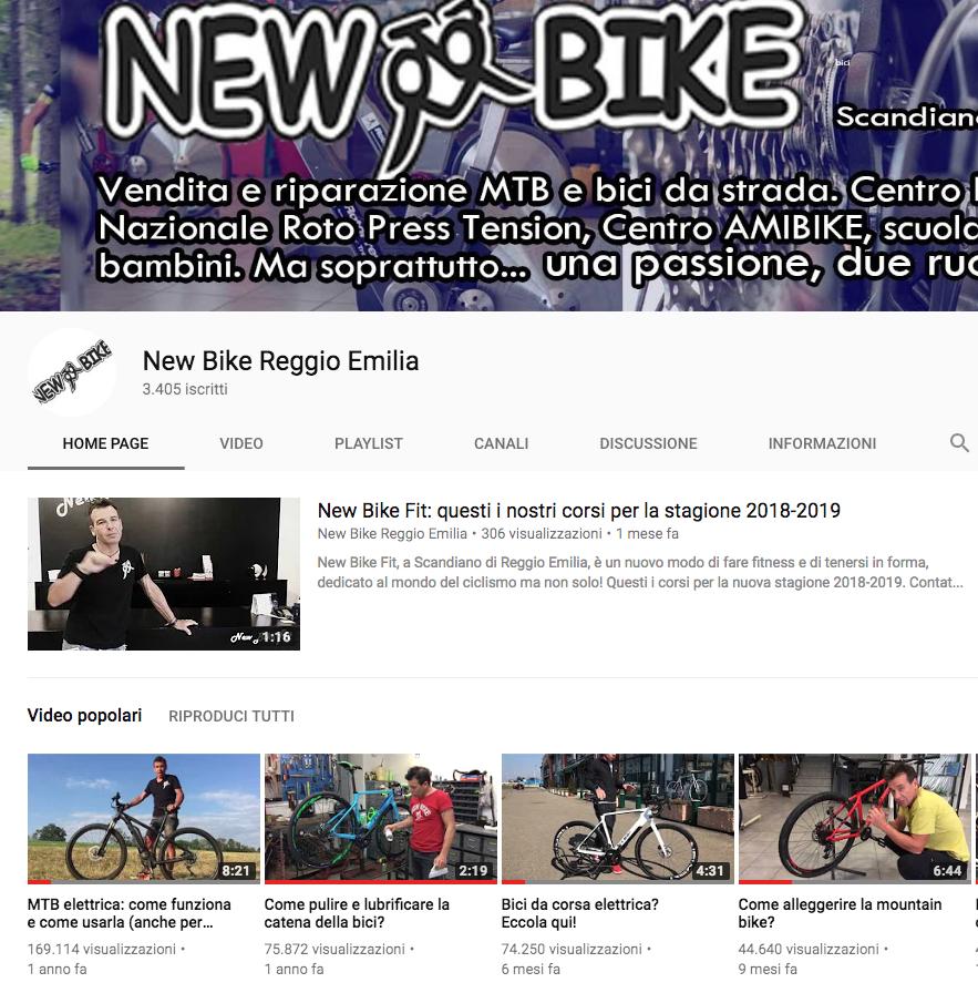Canale YouTube New Bike Reggio Emilia