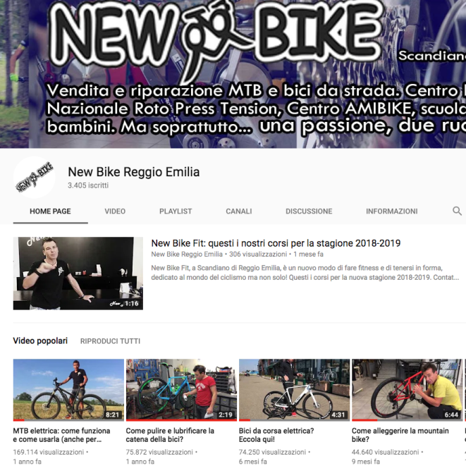 Canale YouTube New Bike Reggio Emilia