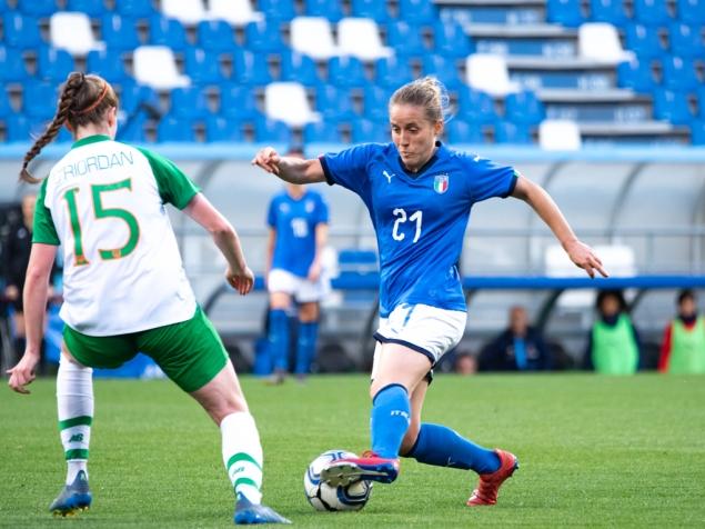 nazionale italiana vs irlanda calcio femminile silvia casali