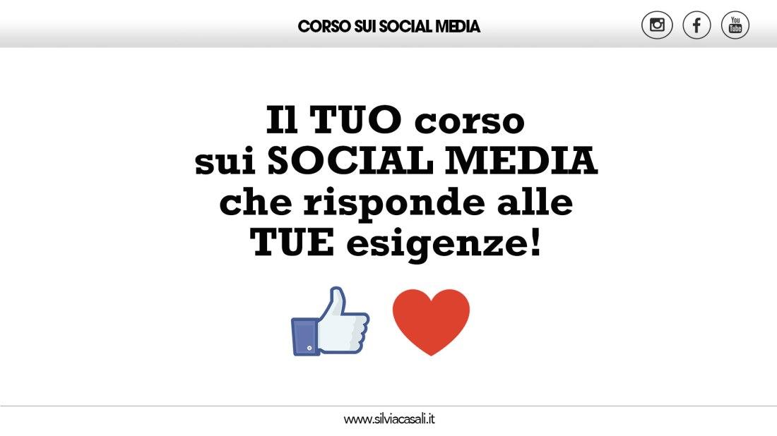 Corso sui Social Media Silvia Casali
