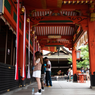 Visiting the Inari Shrine Kyoto Japan
