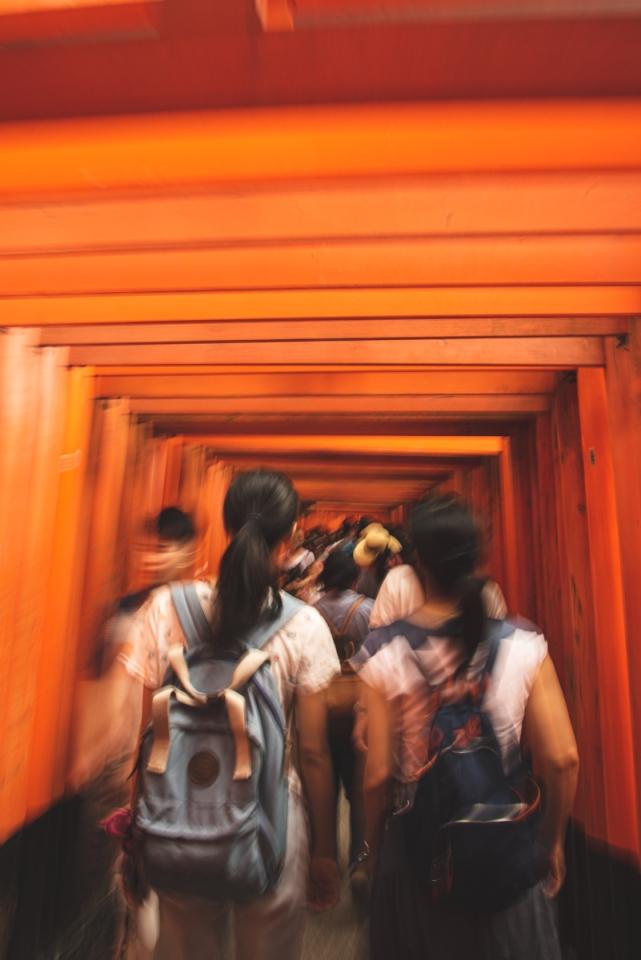 Visiting the Inari Shrine Kyoto Japan
