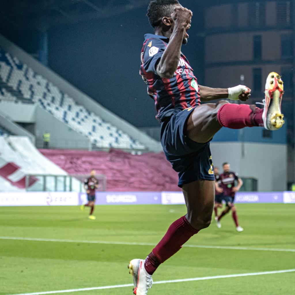 Promozione in serie B AC Reggiana | Augustus Kgarbo